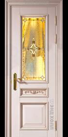 Дверь из массива -модель Классик-04 витраж