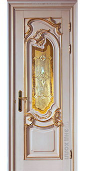 Дверь из массива - модель Изабелла витраж