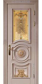 Дверь из массива - модель Констанция витраж-01