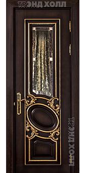 Дверь из массива - Луиза витраж