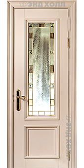 Дверь из массива-наполи-02 витраж