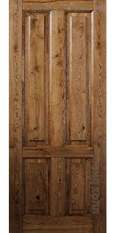 Двери из массива дуба - ДПГ Кантри-Шале Темный Тик