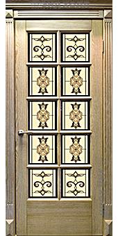 Дверь из массива дуба ДПО-10 Неаполь беленый дуб1