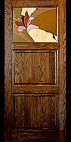 Дверь из массива дуба ДПО-1 Тренто тесный тик