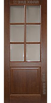 Дверь из массива дуба ДПО-6 марсель старый орех