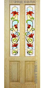 Дверь из массива дуба модель Кантри беленый дуб 2