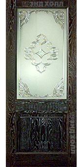 Дверь из массива дуба- марсель плюс мореный дуб