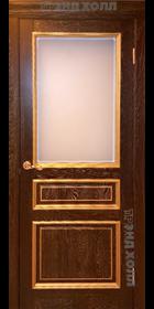 Дверь из массива дуба модель ДПО Милан Багет Мореный Дуб