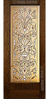 Дверь из массива дуба модель Неаполь старинный дуб-3
