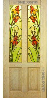 Дверь из массива дуба - кантри беленый дуб