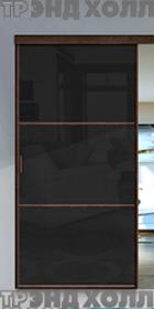 Раздвижная перегородка венге стекло